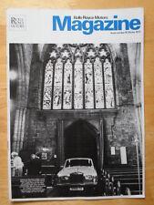 ROLLS ROYCE Motors Magazine - Rare in-house brochure - No 10, Winter 1977