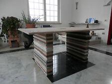 Tavolo in marmo per salotto/ufficio 165x100x78 cm.Piedi in granito scalpellato