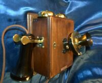 WESTERN ELECTRIC COMPACT 'TIQUE WALL TELEPHONE