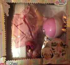 BNIB Zapf Creation Baby Born Pink Scooter Helmet, Jacket And Bag For Doll