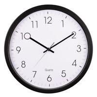 35cm Large Clear Read Black & White Quartz Wall Clock Home Office Kitchen Store