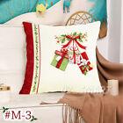 ❤ New Christmas Cushion Cover Throw Waist Pillow Case Sofa Flax Home Decoration