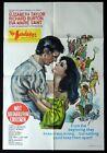 THE SANDPIPER Oriignal One sheet Movie Poster Richard Burton Elizabeth Taylor