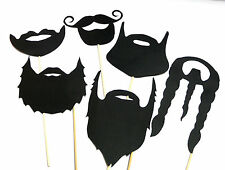 Photo Booth Props Weddings Parties Black Beards x5PC