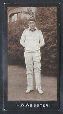 SMITHS-CRICKET ERS (2ND SERIES)-#54- WEBSTER
