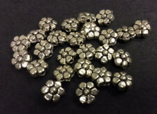 25 Flower Tibetan Silver Spacer Bead SP01
