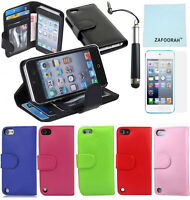 Leather ID Wallet Stand Case Cover For Apple iPod Touch 7th 6th 5th Generation
