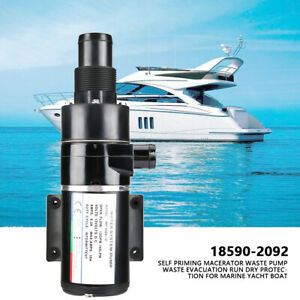 Pompe à déchets auto-amorçante Macerator pour bateau de yacht de marine