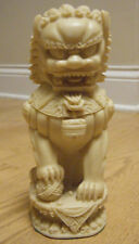 """Vintage Hand Carved Resin Chinese Foo Dog Statue Figurine 7.5"""""""
