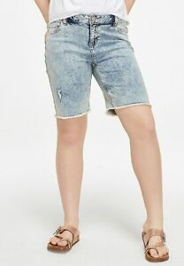 Justice Girls Destructed Denim Girlfriend Bermuda Shorts - New with Tags