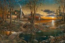 "Jim Hansel "" Comforts of Home"" Canvas Giclee Signed And Numbered  24"" x 16"""