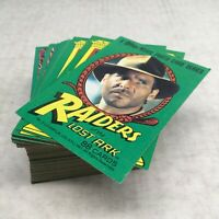 VTG Indiana Jones Raiders Of The Lost Ark Complete Set 1-88 Topps Cards 1981