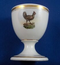 Antique Nymphenburg Porcelain Egg Cup Chicken Scene Porzellan Eierbecher Scenic