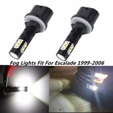 2x 100W 6000K White 880 LED Fog Lights Lamp For Cadillac Escalade 1999-2006