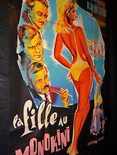 LA FILLE AU MONOKINI  affiche cinema  1964 sexy pin-up