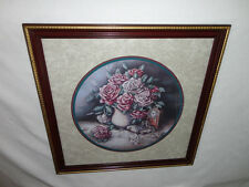 Interiors Large '' Vase of Pink Roses '' Picture Gorgeous 22.5''