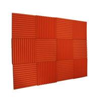 """12 Acoustic Oran Wedge Studio Foam Soundproofing Foam Wall Panels Tiles 1""""X12X12"""