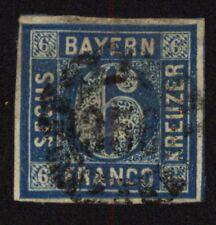 Bayern 1862 10 Freimarke gestempelt
