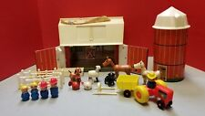 Fisher Price #915 Play Family Farm & Silo with Accessories Animals and People