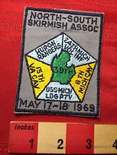 Vtg 1969 Nssa Civil War North South Skirmish Association Reenactment Patch 77V3