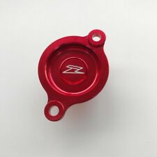 Zeta Racing MX Oil Filter Cover - Honda CRF450 17-20 CRF450X 17-20 - Red