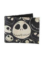 The Nightmare Before Christmas Jack Heads Bifold Wallet Bi-Fold Wallet NWT