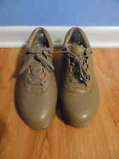 Supremes by Softspots MARATHON 122401 Womens Tan Lace Up Comfort Oxford 9.5