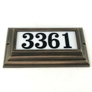 Edgewood Large Lighted Address Plaque in Oil Rub Bronze Frame Color