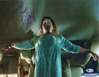 LINDA BLAIR REGAN SIGNED METALLIC 11X14 PHOTO THE EXORCIST BECKETT COA 494