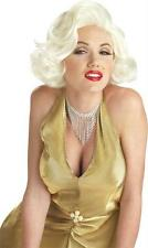 ADULT 50'S MOVIE STAR MARILYN CLASSIC PLATINUM BLONDE WIG COSTUME CC70468BD