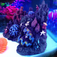 Resin Coral Plant Shell Reef Mountain Fish Tank Cave Ornament Aquarium Decor