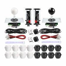 Hikig 2-Player DIY Arcade Kit 20x Arcade Buttons + 2XJoystick +Zero Delay USB
