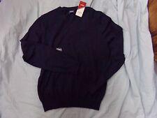 Mens IZOD Small Navy Blue V-Neck Sweater NEW MSRP $55.00 ~ Wool Blend