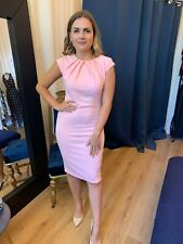 Pink Dress Ladies Occasion Wear Wedding Guest Dress Party Outfit Uk Made RRP £45