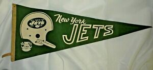 VINTAGE NEW YORK JETS 1960'S AFL FOOTBALL PENNANT FLAG FULL SIZE