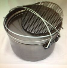 "Camp Oven 12"" Spun Carbon Steel & Trivet Dr Livingstone's Camping Cooking New"
