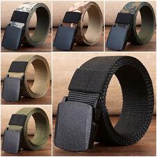 Men's Casual Webbed Belt, Plastic Buckle, No Metal Parts