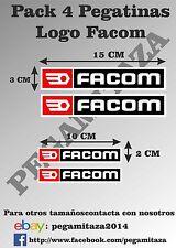 Pegatinas FACOM Sticker Vinilo Adhesivo para coche, moto, casco pack de 4...