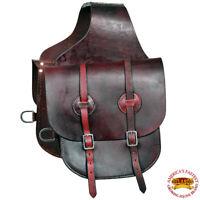 Hilason Western Heavyduty Leather Cowboy Trail Horse Saddle Bag U-G119