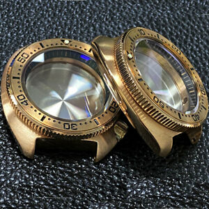 Solid Real Cusn8 Bronze 46mm Watch Case Dive for NH35A NH36A Chapter Ring