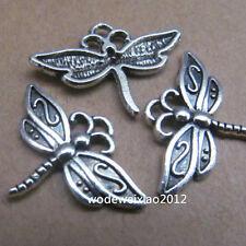 20pc Tibetan Silver Dragonfly Animal Pendant Charms 23mm*16mm Wholesale  PL088