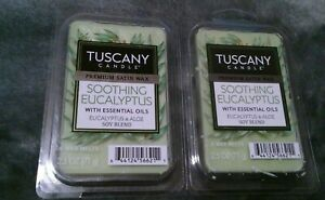 Lot Of 2 Tuscany Candle Premium Satin Soothing Eucalyptus Soy Blend Wax Melts
