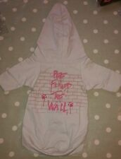 Dog Puppy Hoodie Jumper by Designers Ready To Wag, London. Grey. Small. NWT
