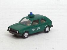 "VW Golf I zweitürig ""Polizei"" in grün, Wiking, 1:87, ohne OVP"