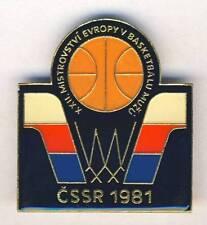 1981 FIBA European BASKETBALL Championships PIN BADGE 50x45mm XXXL EuroBasket