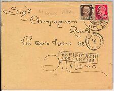 53348 - REGNO -  BUSTA con annullo R.P.A. G.M. 191 - CARTEGGIO REALE? 1941