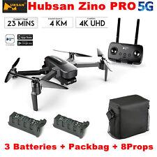 Hubsan Zino Pro 4.5KM Wifi FPV RC Drone W/ 4K HD Camera 3-Axis Gimbal+3Battery