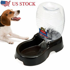 Automatic Drink Water Dispenser Pet Dog Rabbit Large Food Dish Bowl Feeder Feed