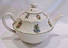Royal Cauldon Teapot Bristol Engalnd Ironstone June Garden