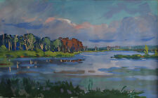Russian paper gouache Impressionism Landscape 2013  Gordeeva Anastasia 25
